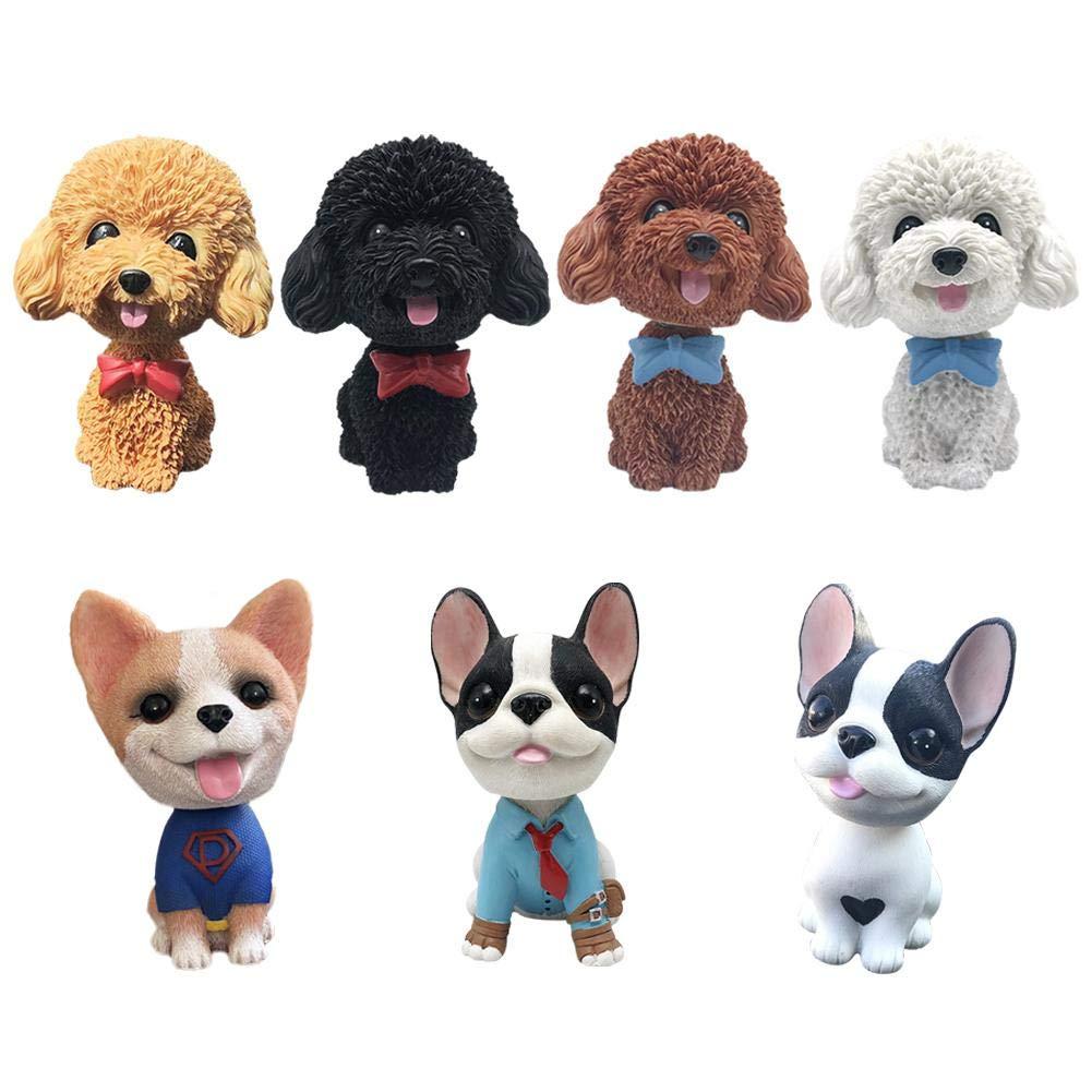 boastvi Auto agitazione Testa Bobble Head Dog Doll Auto Ornamenti Artigianato Car Interior Simulazione cruscotto Accessori Interni Auto//novit/à Decorazione Ufficio