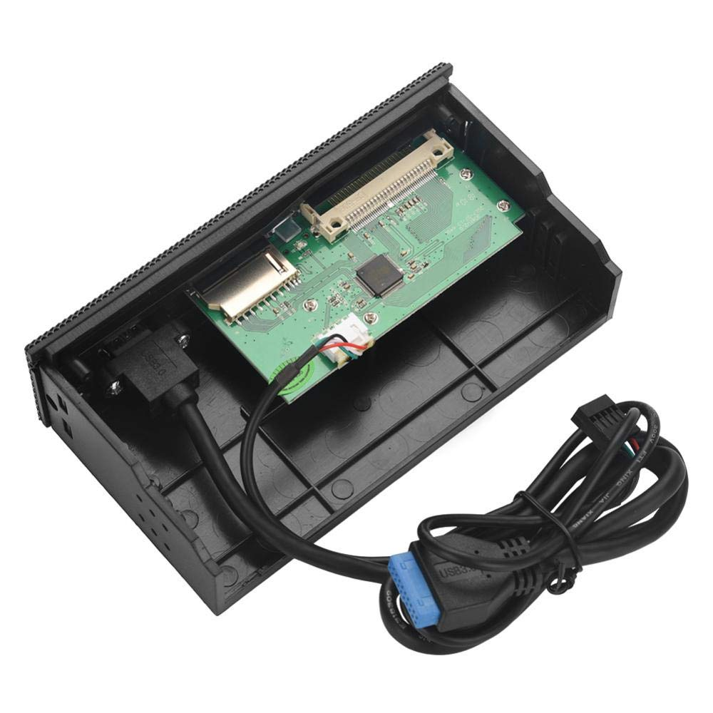 5.25 In Multifunction Computer Card Reader Front Panel Multimedia Dashboard Support for USB3.0 Port M2 SD MS XD CF TF Card Internal Card Reader Dashboard