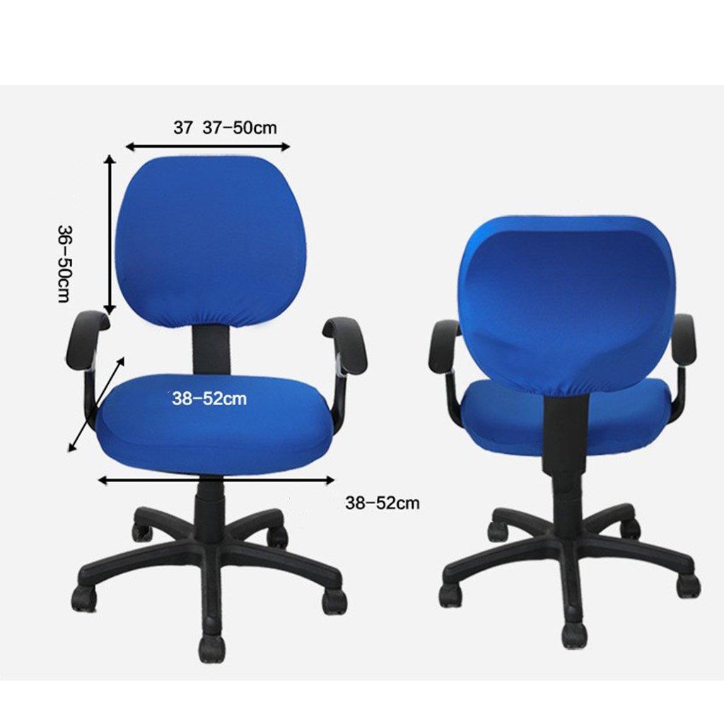 Blau Husse f/ür B/ürodrehstuhl Drehstuhl Schreibtitschstuhl Sharplace Weiche Bezug-Set f/ür B/ürostuhl