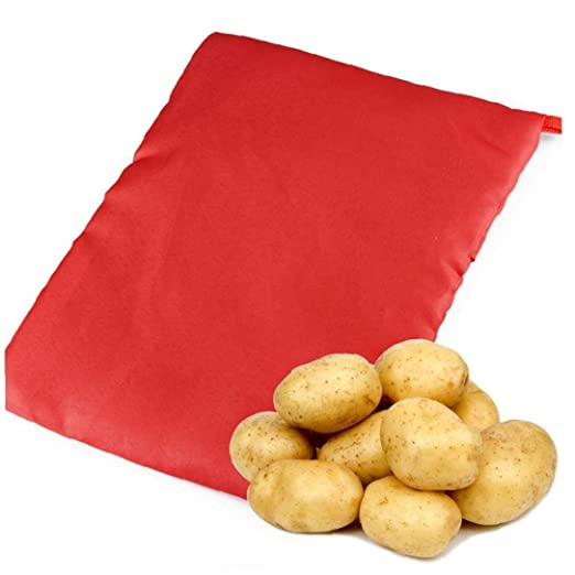 Lankater Patata expreso Microondas Patata Bolsa roja, Bolsa de ...