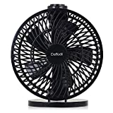 "Daffodil UFN120 – 7"" USB Desk Fan – Desk and Wall Mounted Fan - Adjustable Speed and Angle (Black)"