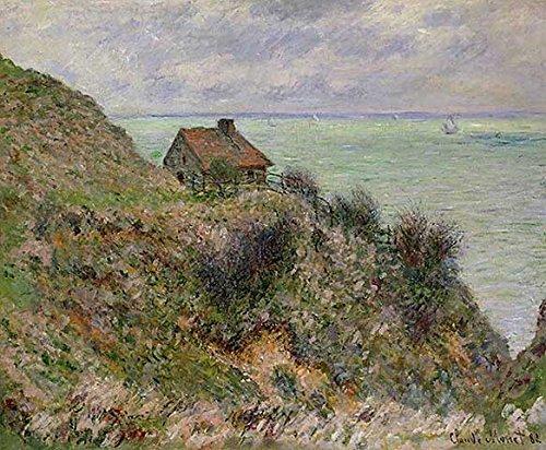 Art Print/Poster: Claude Monet The Customs Officers Hut at Pourville 1882