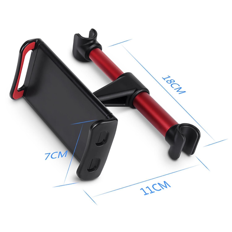TM Noir et Rouge niceEshop Rotation 360/° Taille R/églable 4~11 Pouces pour IPad Support Tablette pour Voiture Porte Tablette//T/él/éphone pour Appui-t/ête Universel Auto Tablettes et Smartphone