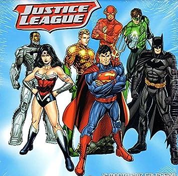 2017 justice league 12 month colorful calendar superman iron man green lantern wonder woman batman batman superman iron man