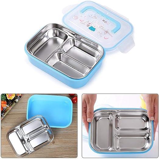 bento box,Caja de almuerzo Bento de acero inoxidable para niños ...