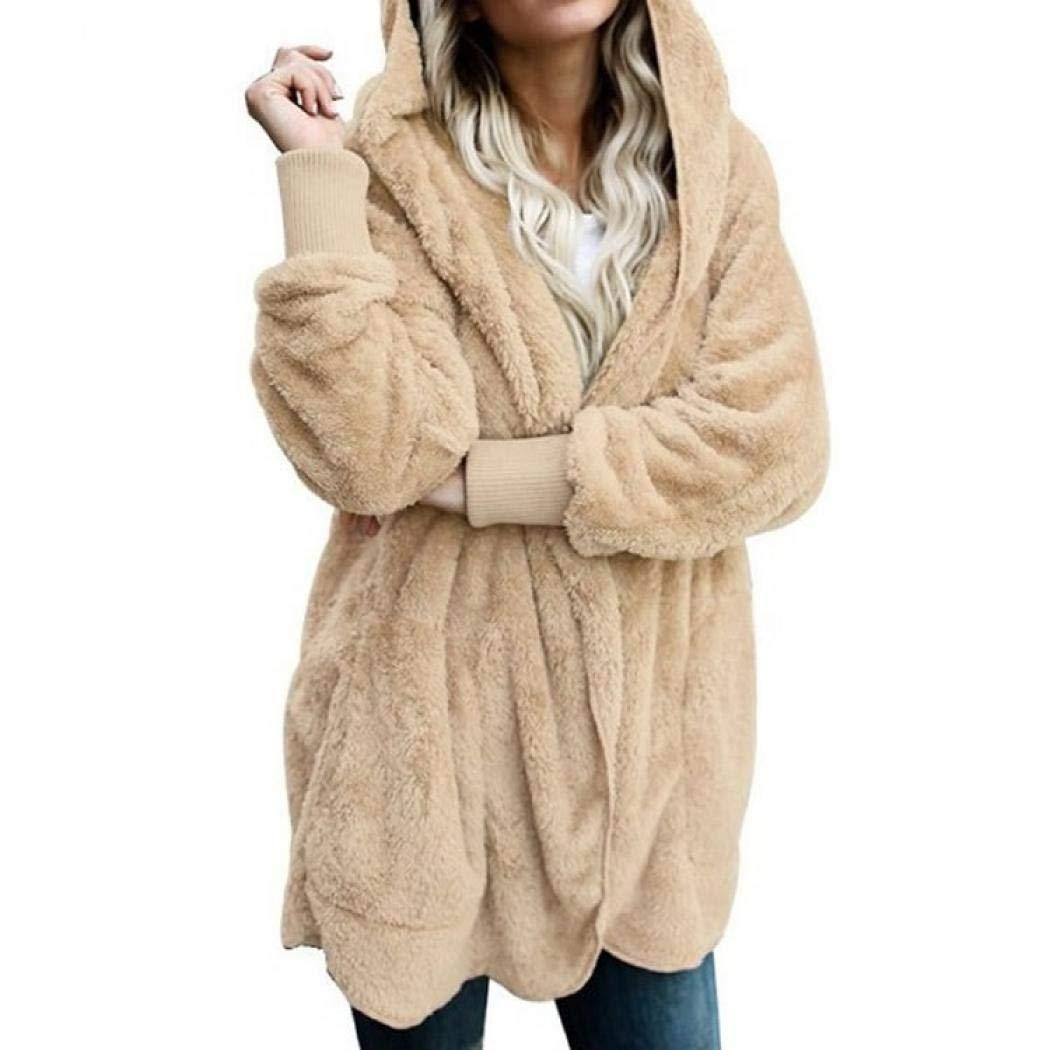 SIMANLI Fluffy Coat Zip Up Oversized Sweatshirt Hoodie Long Sleeve Winter Outwear Coat for Women