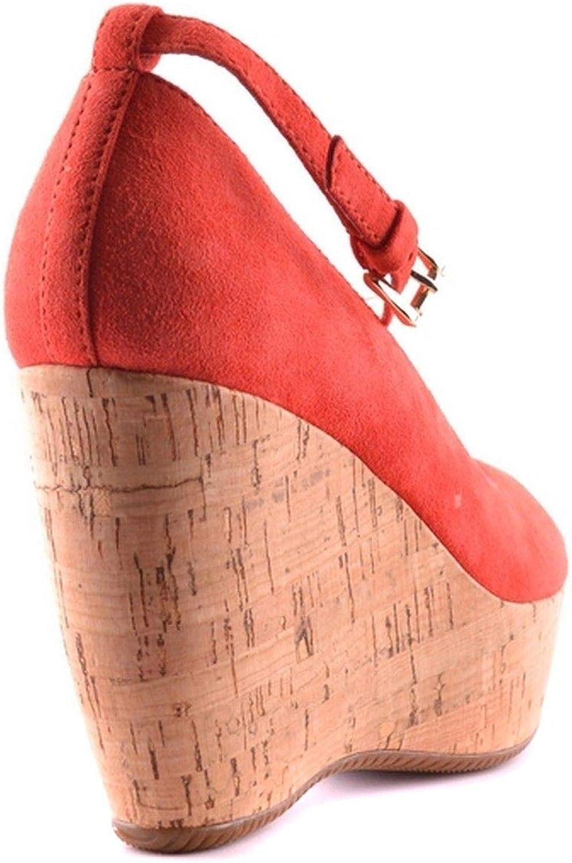 HOGAN Womens MCBI21156 Red Suede Wedges