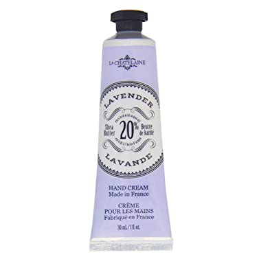 La Chatelaine 20% Shea Butter Lavender Hand Cream with Organic Argan Oil, Travel Size 1 fl oz, Moisturizing, Nourishing, Repairing, Extra Rich, Non-Greasy, Fast Absorbing, Paraben Free