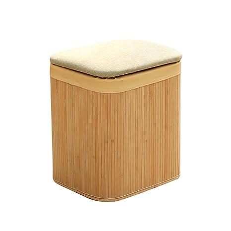 Surprising Amazon Com Hmdx Storage Ottoman Footstool Bamboo Weaving Inzonedesignstudio Interior Chair Design Inzonedesignstudiocom