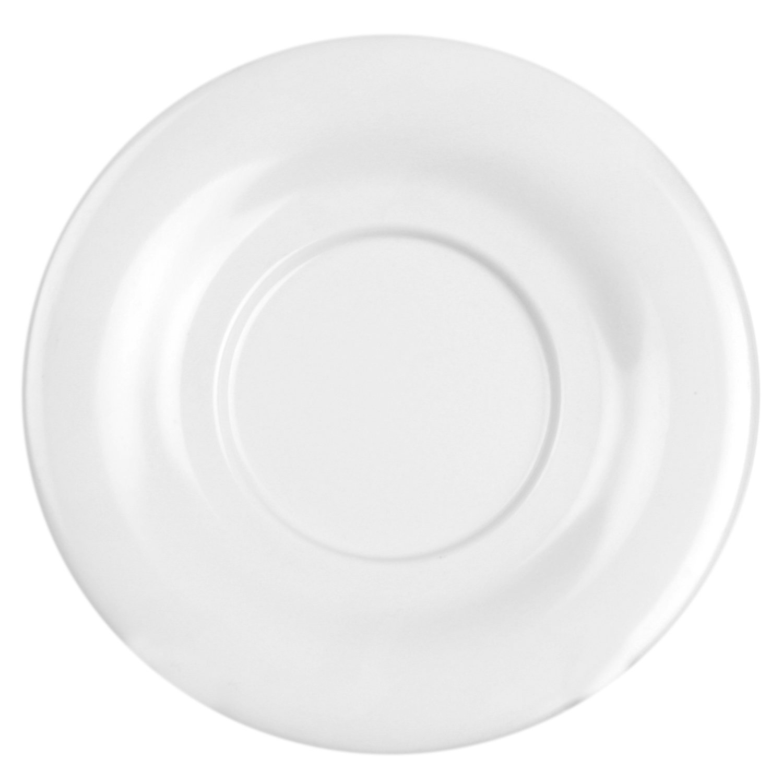 Excellant/é White Melamine Collection 5-1//2-Inch Saucer White 12-Piece CR9303W