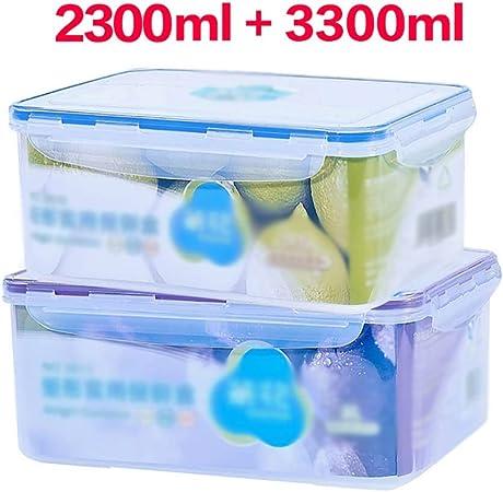 Caja de almacenamiento de alimentos cajón hermético for verduras, más nítida de plástico apilables, caja de almacenamiento de la categoría alimenticia PP con tapa, más nítida calentado, caja de almace: Amazon.es: Hogar