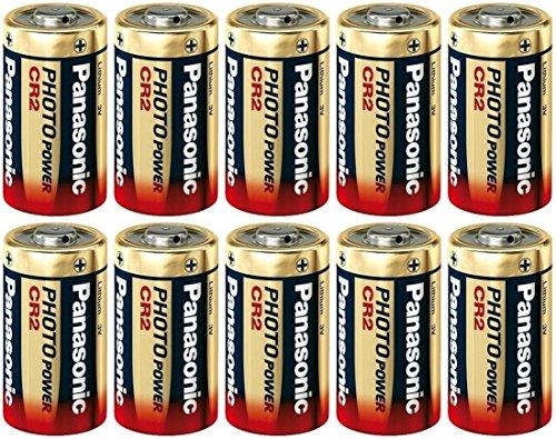 10 Panasonic Ultra CR2 3v Lithium Photo Battery DL-CR2
