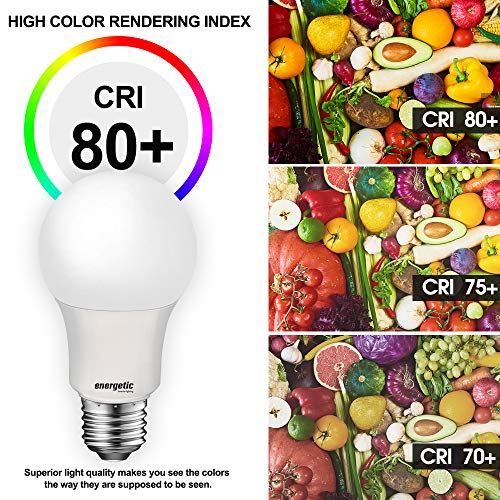60W Equivalent A19 LED Light Bulb, Soft White 2700K, E26 Standard Base, UL Listed, Non-Dimmable LED Light Bulb, 4-Pack