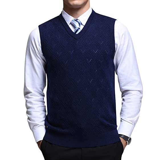 Fluorodine Mens Casual Slim Fit Soft Acrylic Solid Pullover ...