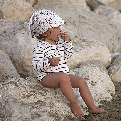 Foulard b/éb/é en Coton avec visi/ère Sevira Kids Flora Casquette Bandana