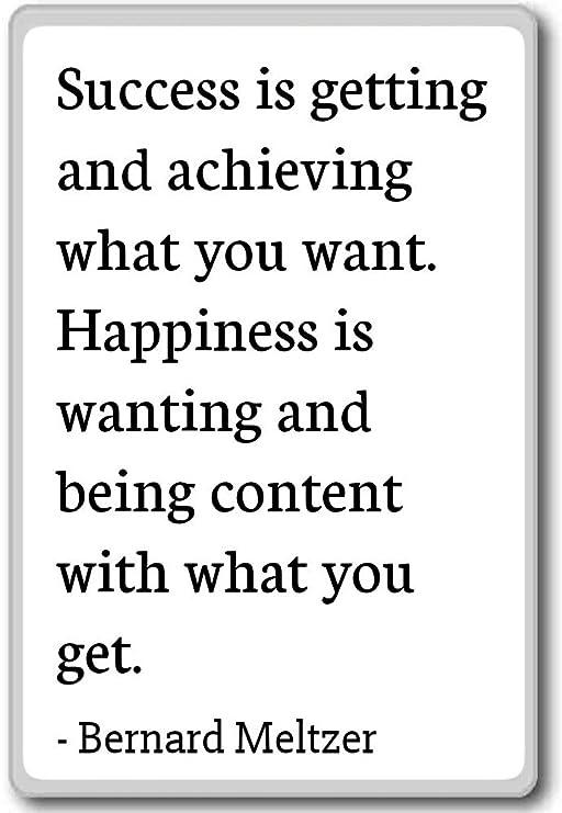Éxito es conseguir y lograr lo que usted W. Imán para nevera con ...