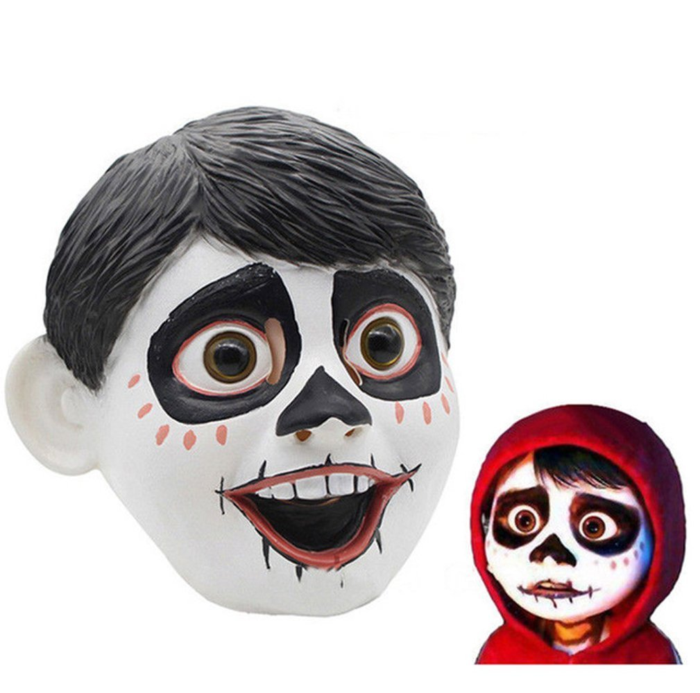 Pinxuan Movie Anime Coco Miguel Cosplay Head Latex Mask Halloween Costume Props