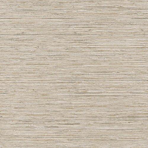 York Wallcoverings WB5502 Nautical Living Horizontal Grass Cloth Wallpaper, Beige/Taupe/Cream/Gold Vein