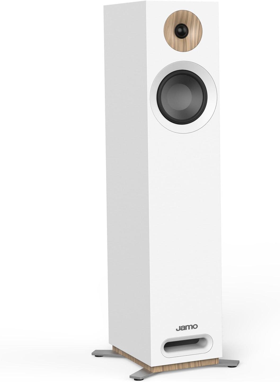 Jamo S 805 W PAR 160W - Altavoces (2.0 Canales, Alámbrico, 160 W, 49-26000 Hz, 8 Ω) Blanco
