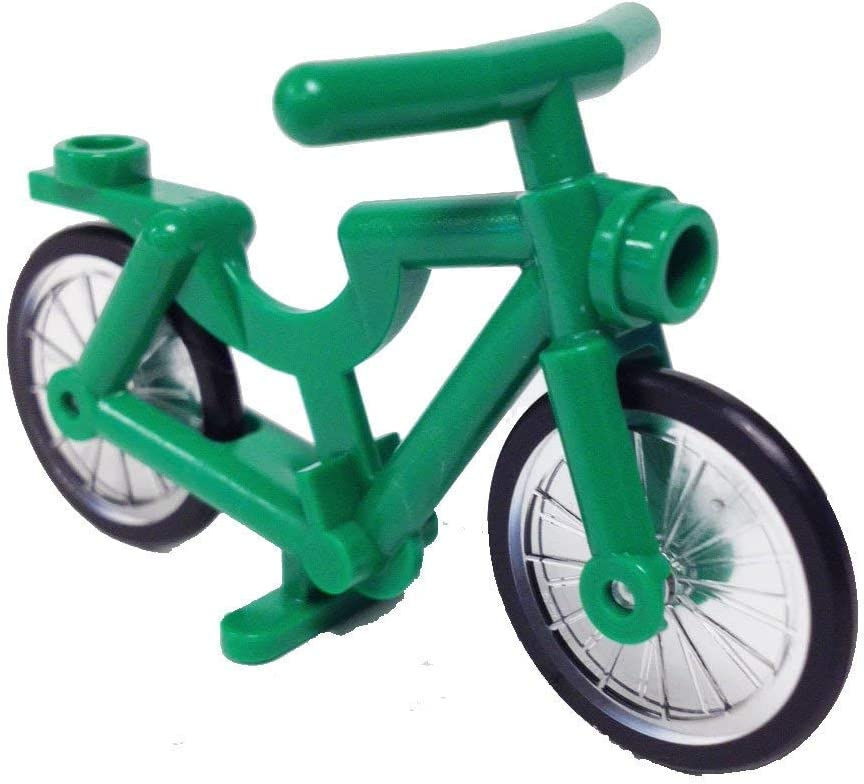 Lego Parts: Classic Town Bicycle - Complete Assembly (Service Pack 4719C01 - Green)