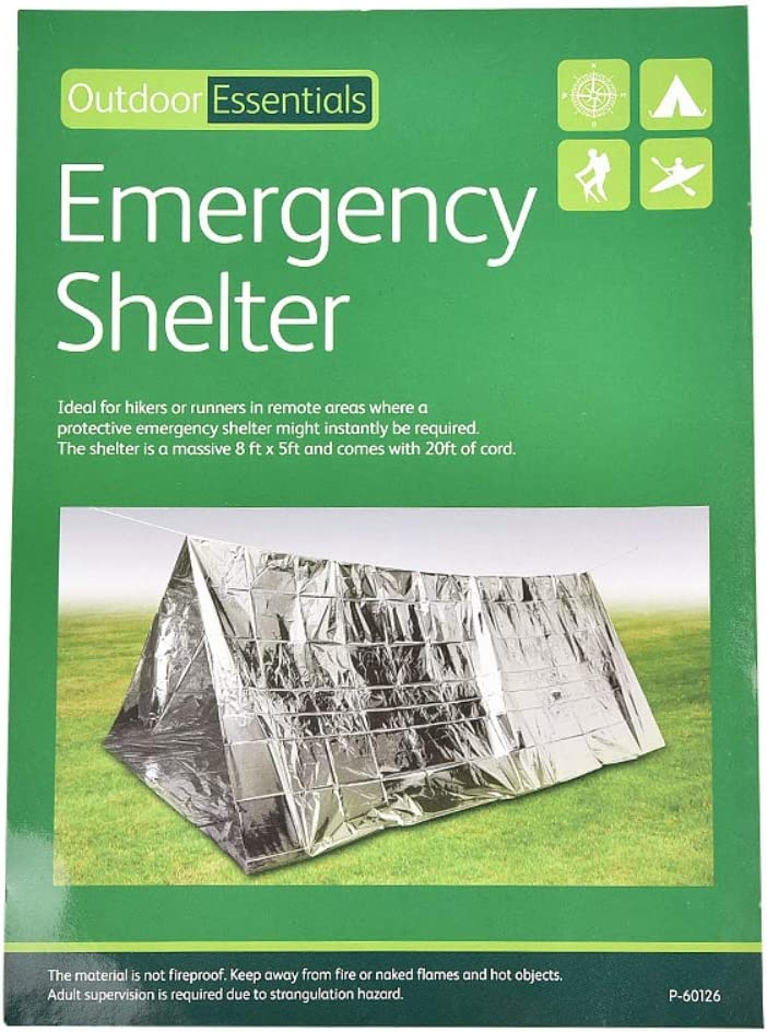 Ohhome Emergency Tube Survival Shelter Tent Blanket Durable Tent Shelter Canvas to Camping