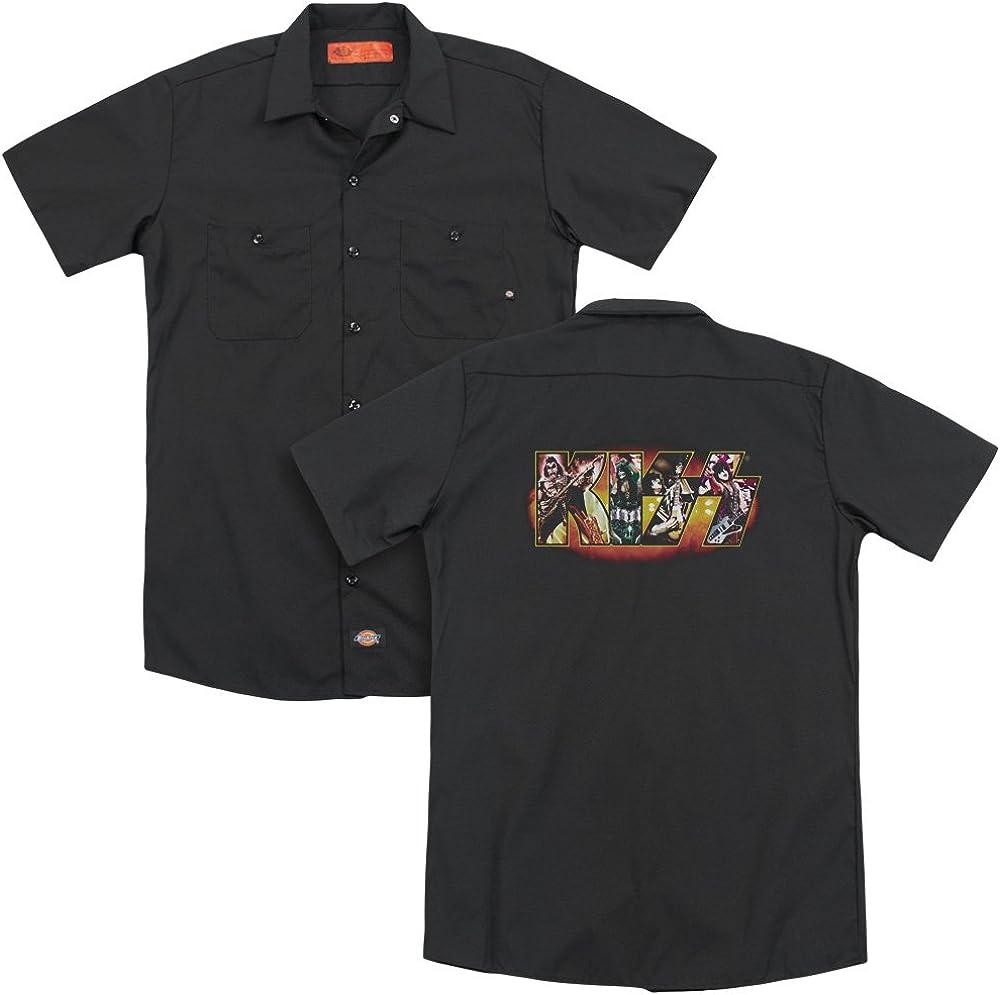Kiss Stage Logo Adult Work Shirt