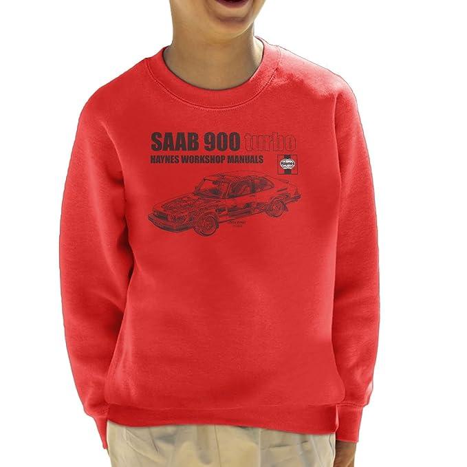 Haynes Workshop Manual 0765 Saab 900 Turbo Black Kids Sweatshirt: Amazon.es: Ropa y accesorios