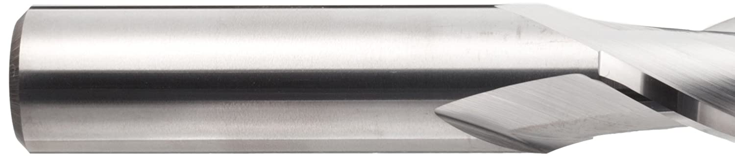 3 Overall Length 0.25 Cutting Diameter 30 Deg Helix Finish YG-1 E5011 Carbide Square Nose End Mill 2 Flutes Uncoated Bright Long Reach 0.25 Shank Diameter
