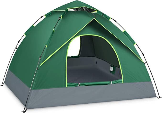 BATTOP 4 Person Family Camping Instant Pop Up Tent