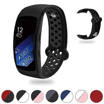 Tosenpo para Samsung Gear Fit2/Gear Fit 2 Pro Correa, Correa de Silicona de Repuesto para Gear Fit 2 Pro SM-R365/Gear Fit2 SM-R360 Smartwatch