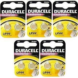10 x Duracell LR44 A76 1.5V Alkaline Batteries: Amazon.co.uk: Electronics