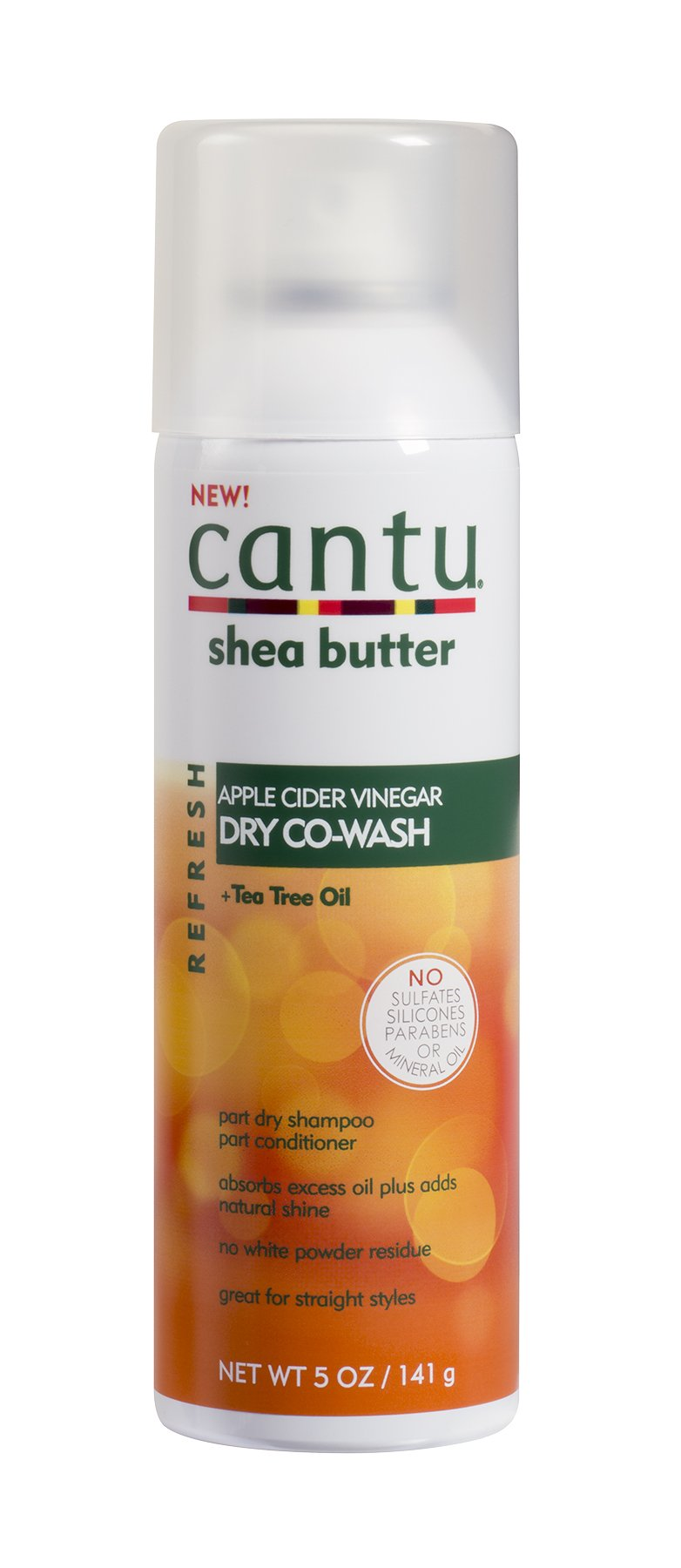 Cantu Refresh Dry Co-wash with Apple Cider Vinegar and Tea Tree Oil, 5 Ounce (Pack of 3) by Cantu