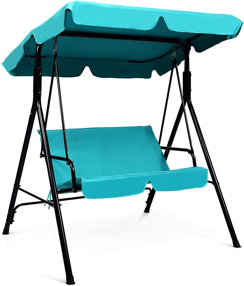 Tangkula 2-Person Patio Swing Chair