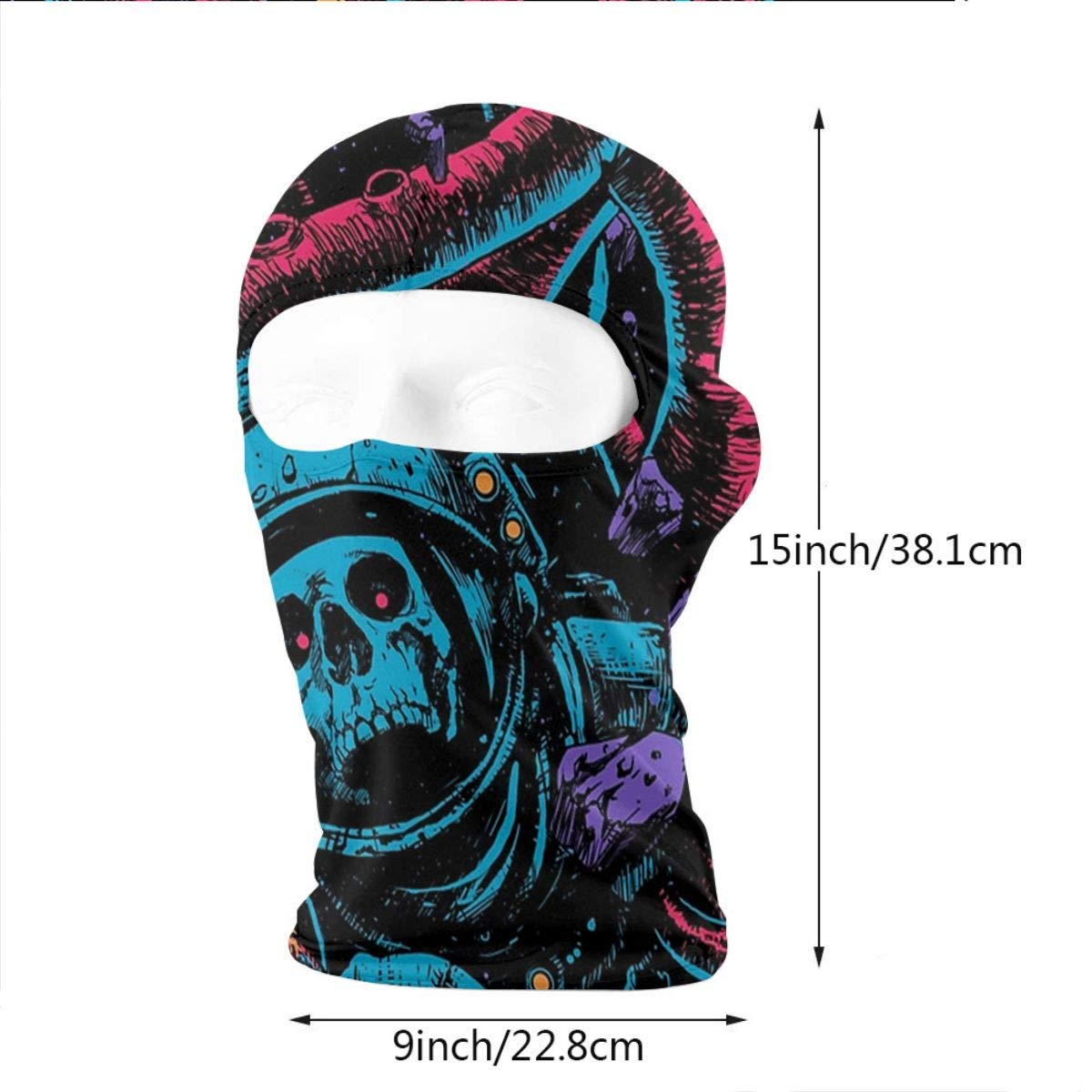 Balaclava Full Face Mask Red Octopus Astronaut Windproof UV Protection Neck Hood Ski Mask for Motorcycle Cycling Outdoor Sports