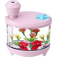Humidificador(Rosa) Humidificador de acuario USB Colorido Luminoso Creativo