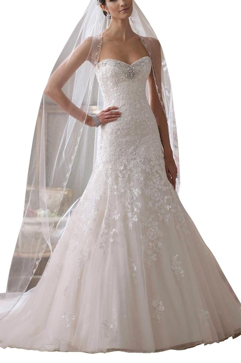 GEORGE BRIDE Beautiful Goddess exquisite lace wedding dress