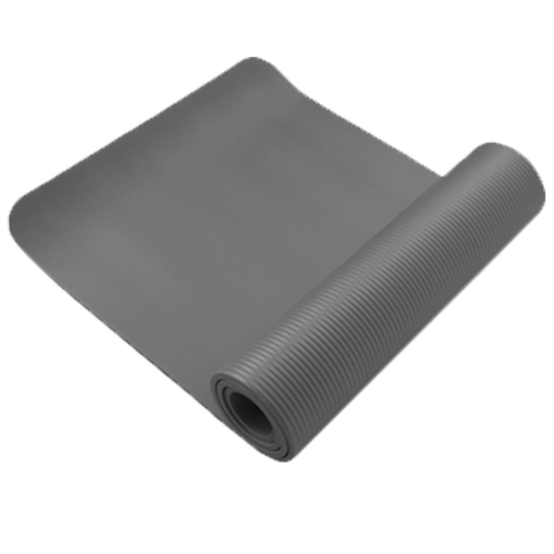 10 mm Exerciseヨガパッドマット非スリップ耐久性ピラティス理学療法フィットネスジムクッション  グレー B01KFMSCYI
