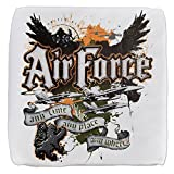 18 Inch 6-Sided Cube Ottoman US Air Force Any Time Any Place Where