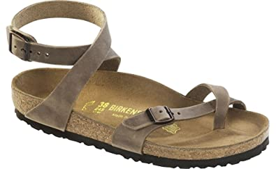 7add17b9b7 Birkenstock Women s Yara Sandal Tobacco Oiled Leather Size 36 ...