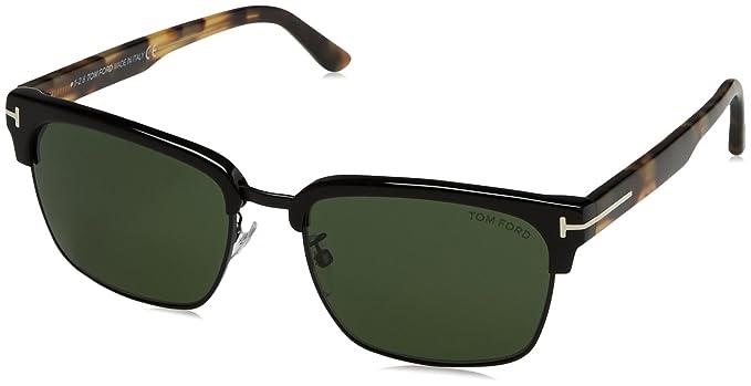 c4d8b85de3d Tom Ford River FT0367 Sunglasses-02B Matte Black (Smoke Gradient Lens)-57mm
