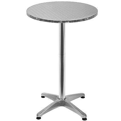 Deuba Table Haute 4 Pieds Table Ronde De Bar Table De Bistrot Table