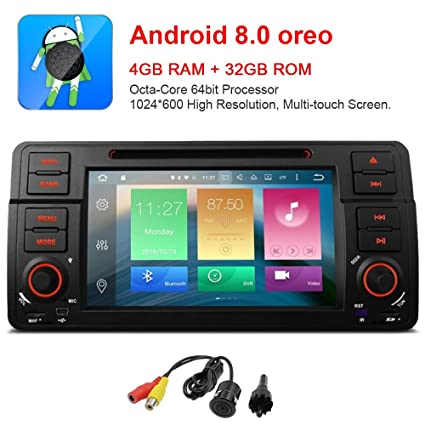 freeauto para E46 320 325 7 Inch Android 8.0 Multi Touch Screen Car Stereo Radio Reproductor