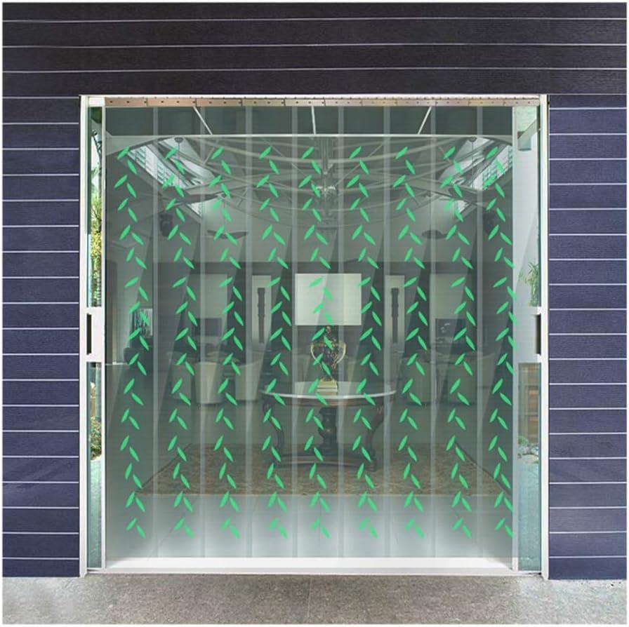 GDMING-Cortina de Puerta Invierno Cortina De Algodón Case Tiras PVC Kit De Cortinas con Una Superposición del 25% para Puerta Puerta Corrediza De Vidrio Balcón Cropable Fácil De Instalar Escuelas Vi