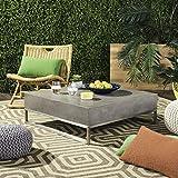 "Safavieh VNN1017A Collection Eartha Dark Grey Indoor/Outdoor Modern Concrete 11.42"" Coffee Table"