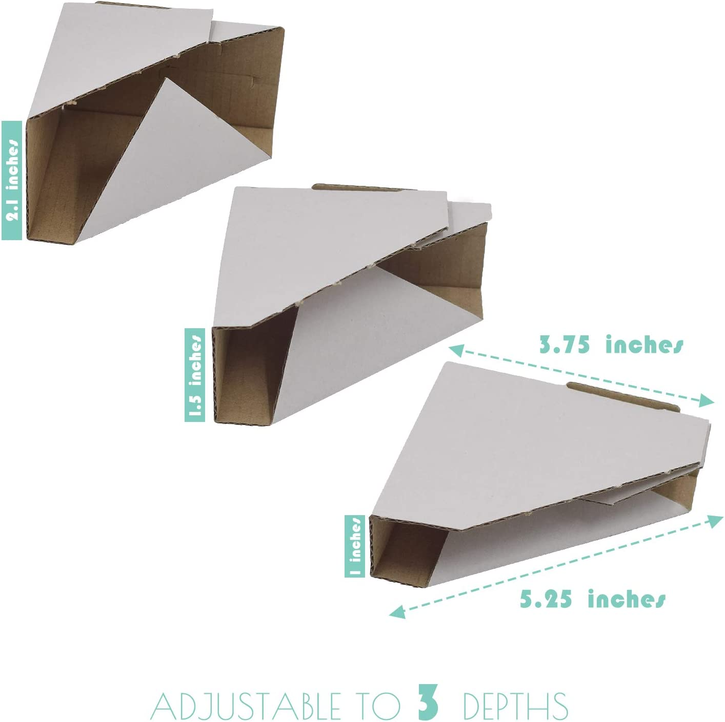 120-Pack Packing or Moving Art Adjustable Picture Frame Cardboard Corner Protectors for Shipping 3 Size Depths to fit Frames from 0.5-1.5 Mat Board Center