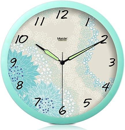 ZLXIONG Reloj de Pared silencioso para Sala de Estar Reloj de jardín Europeo Reloj de Resina Luminosa de Arte Creativo F 10 Pulgadas 12 Pulgadas: Amazon.es: Hogar