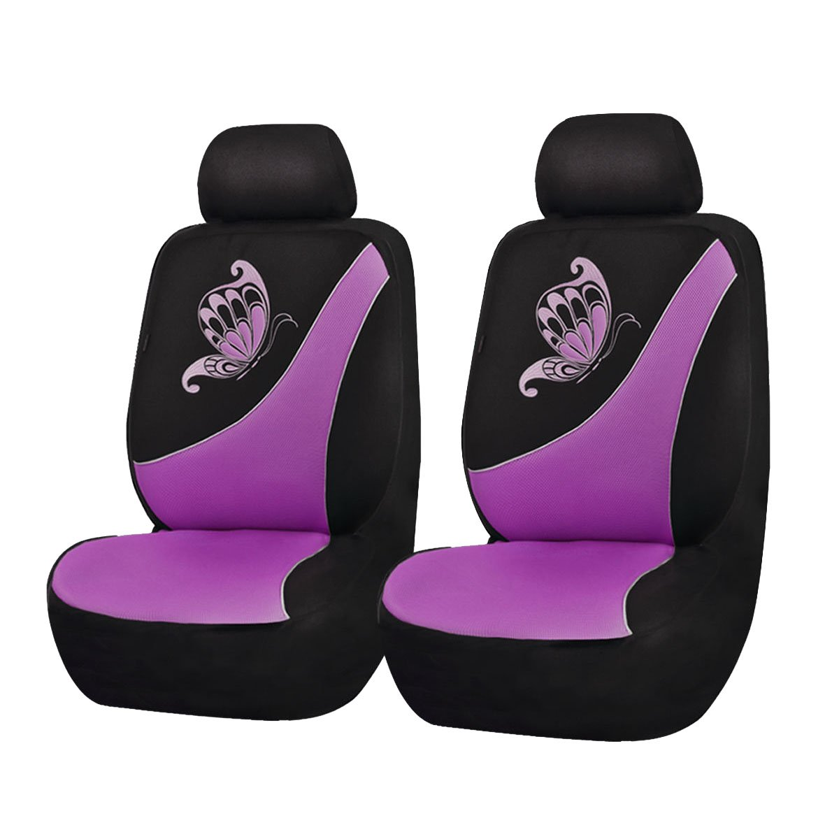 Ningbo Qiyang International Trade Co Flying Banner Purple Mesh Seat Cover for Trucks Universal Seat Covers for Cars Full Set with Butterfly Embroidery Design 11 Pcs, Pink Ltd