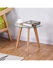 GOLDFAN Glass side coffee table