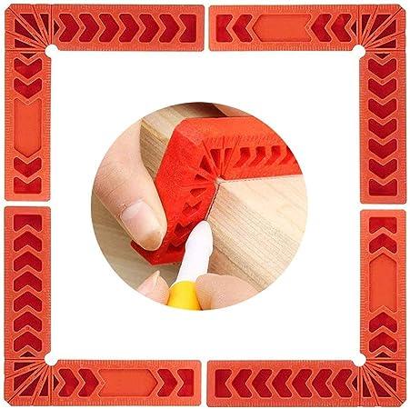 Schr/änke oder Schubladen MOPOIN 90 Grad Rechts Winkel Klemme Winkel Positionierwinkel K/ästen Carpenter Square Tool 6 St/ück Holzbearbeitung Rechtwinkliges Lineal f/ür Bilderrahmen