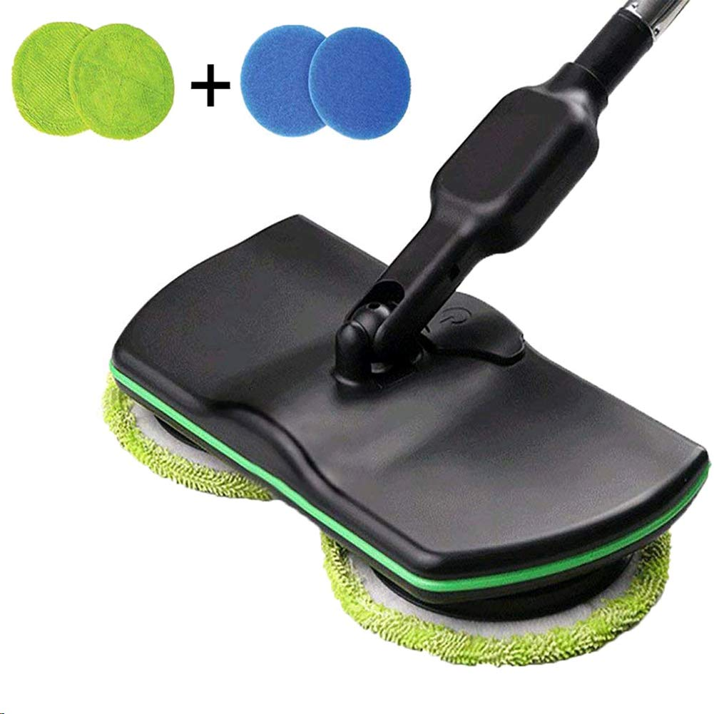 wireless electric rotary mop cleaning handheld spinning rechargeable powered floor cleaner scrubber sweeper broom floors mopping machine microfiber pads indoor use household hand-held portable automat by Shantan